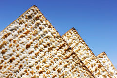 Matzo as the egyptian pyramids Stock Photos