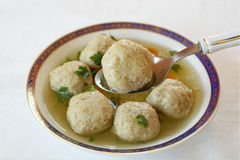 Matzo ball soup Stock Photo