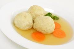 Matzo ball soup royalty free stock images