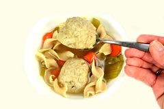 Matzo ball soup Stock Image