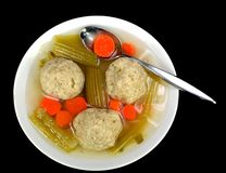 Matzo ball soup Stock Photos