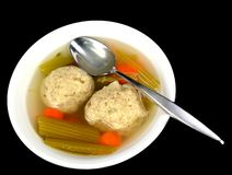 Matzo ball soup Royalty Free Stock Images
