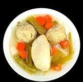 Matzo ball soup Royalty Free Stock Image