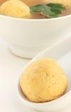 Matzo ball and soup Stock Image