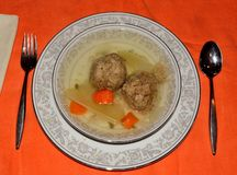 Matzo ball soup Stock Photography