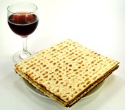 Matzo on a plate Royalty Free Stock Images