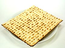 Matzo on a plate Stock Image
