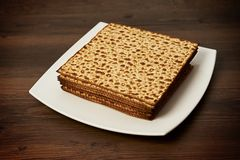 Matzo on the table Stock Photo