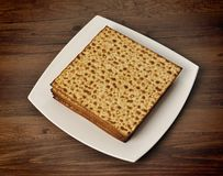 Matzo on the table Stock Photos