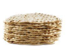 Matzoh. Jewish passover bread close-up stock photography