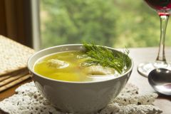 Matzoh Ball Soup Royalty Free Stock Photography