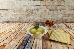 Matzoh ball soup matzo Matzah Stock Photos