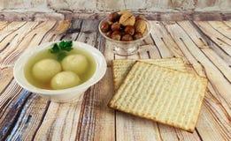 Matzoh ball soup matzo Matzah Stock Images