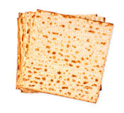 matzoh (jewish passover bread) isolated Royalty Free Stock Photo