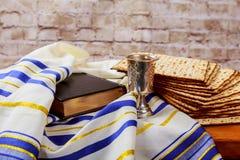 Matzoh jewish passover bread torah. Passover jewish matzoh bread holiday matzoth celebration Royalty Free Stock Photos