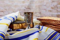 Matzoh jewish passover bread torah. Passover jewish matzoh bread holiday matzoth celebration Stock Photos