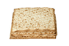 Matzos d'isolement sur le blanc Photo stock