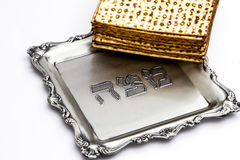 Matzos for Passover. Handmade with A silver bowl Royalty Free Stock Images