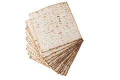 Matzot Isolated on White Royalty Free Stock Images