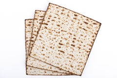 Matzot. Jewish traditional Pesach textured Matza bread substitute isolated on white background Royalty Free Stock Photos