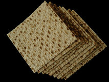 Matzoth (unleavened bread) Stock Photo