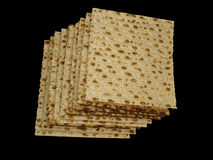 Matzoth (unleavened bread) Stock Photos