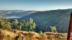 Mau dam near panchgani. Small water reserve dam royalty free stock photo