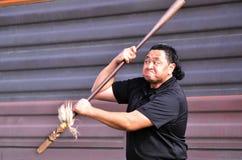 Mau Rakau - Kampfkunst Stockbild