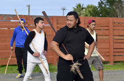 Mau Rakau - Kampfkunst Lizenzfreies Stockbild