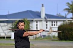 Mau Rakau - kampsport Arkivfoto
