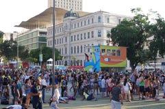 Maua Square in Rio de Janeiro stock photo