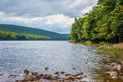 Mauch Chunk Lake. Scenic Mauch Chunk Lake in Jim Thorpe Pennsylvania stock images