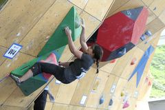 Maud Ansade - French Climber Stock Image