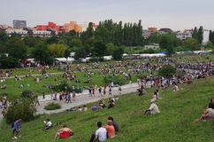 Mauerpark Berlin. Just a normal sunday in the Mauerpark, Berlin Germany Stock Photos
