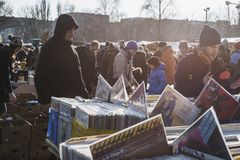 Mauerpark flea market Royalty Free Stock Photos