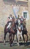 Mauerwandbild in Fonni, Sardinien, Italien stockbild