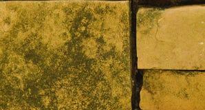 Mauerziegelwand mit Fleckhintergrund und -beschaffenheit Stockfoto