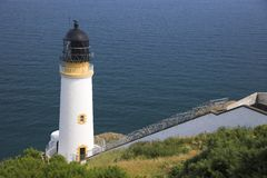 Maughold Head Lighthouse. In the Isle of Man Stock Photo