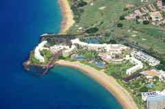 Maui from the air. Aerial of resort in Maui Hawaii Stock Images