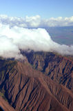 Maui from the air. Aerial of volcano in Maui Hawaii Royalty Free Stock Photos