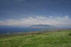 Maui arrière-pays avec Lanai Photo stock