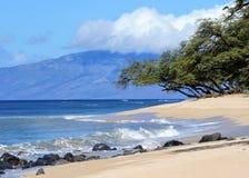 Maui beach, Hawaii. Beautiful day to Maui, Hawaii Royalty Free Stock Photography