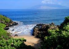 Maui beach, Hawaii. Beautiful day to Maui, Hawaii Royalty Free Stock Photos