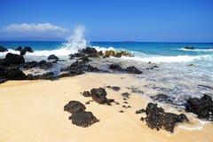 Maui beach, Hawaii. Beautiful day to Maui, Hawaii Stock Photos