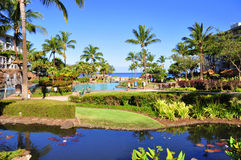 Maui beach resort Royalty Free Stock Images