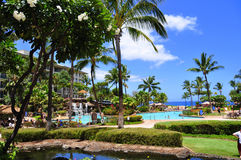 Maui beach resort Stock Image