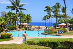 Maui beach resort Royalty Free Stock Photo