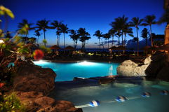 Maui beach resort Stock Images