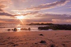 Maui Beach Sunset Stock Photography