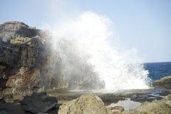 Maui Blow hole explode. Nakalele Blow hole Maui Island Stock Photography